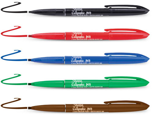Sharpie Calligraphic Chisel Tip Calligraphy Markers Set